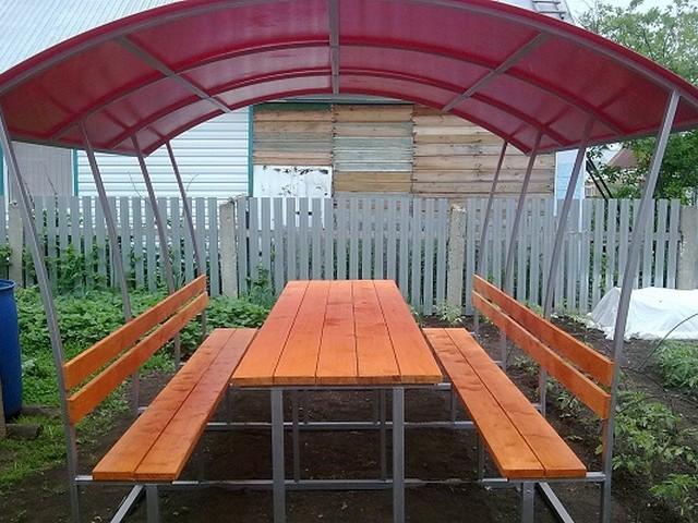 Беседка из поликарбоната своими руками - уютное место отдыха для семьи