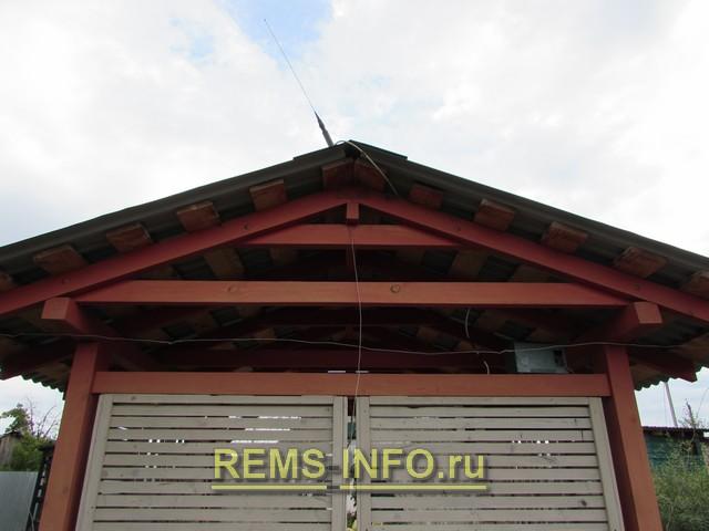 Крыша деревянной беседки – фото.