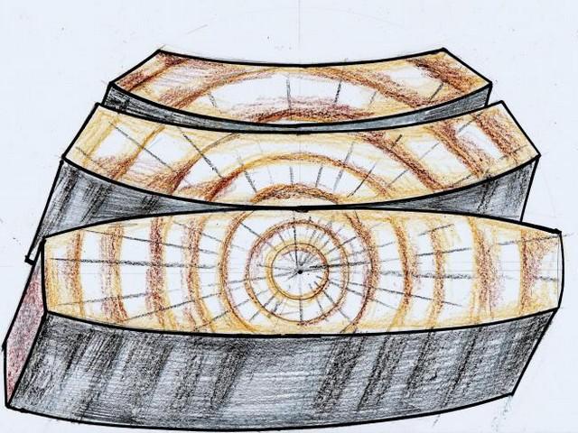 Схема коробления древесины при усушке