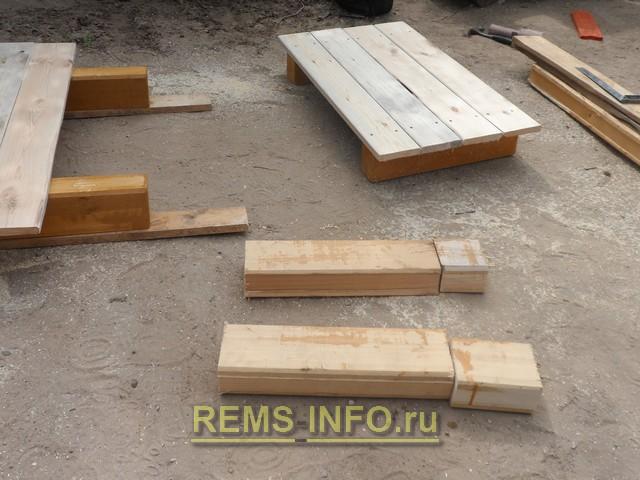 лафетные и обрезные доски для постройки детского паровозика