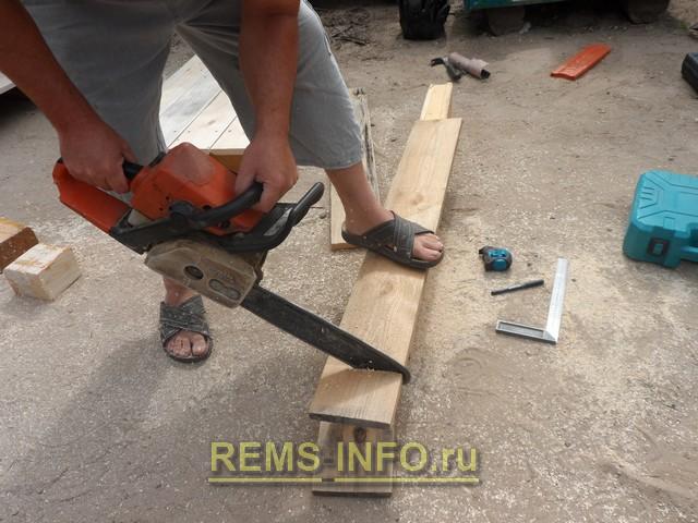 готовим материал для постройки детского паровозика