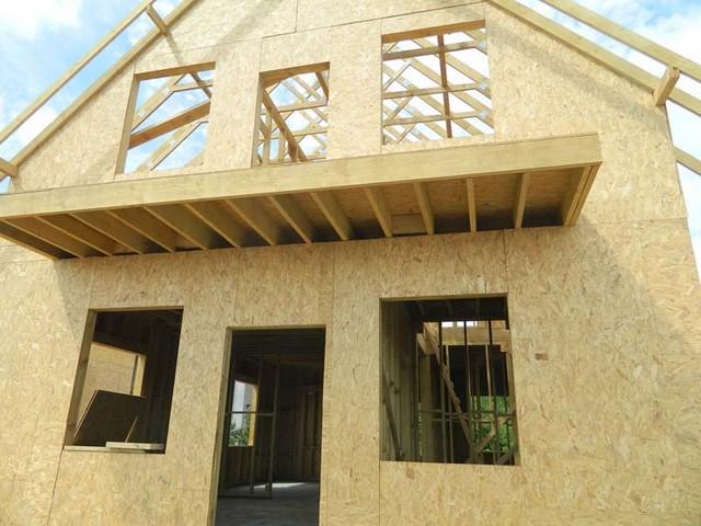 Каркасно-щитовая схема деревянного дома.