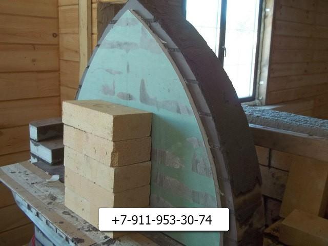 bcользуем гипсокартон для создания арочной кладки.