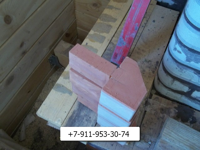 rbпичи нужной формы для укладки арки печи.
