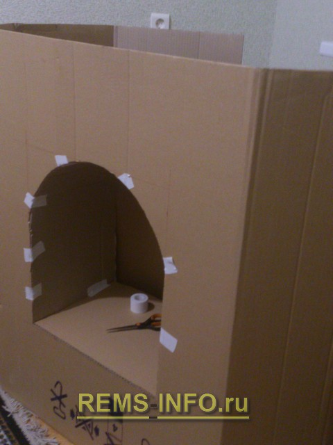 Декоративный камин своими руками из картона мастер класс
