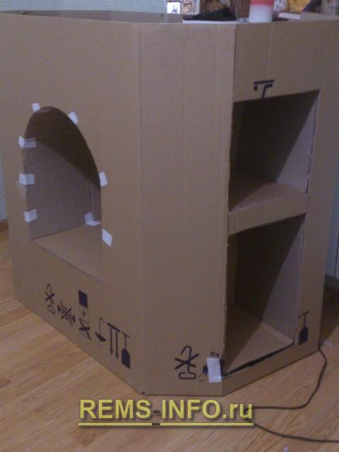 Видео как сделать камин из картона своими руками пошаговая инструкция