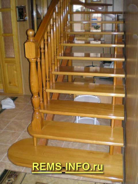 Лестница на второй этаж на больцах2.
