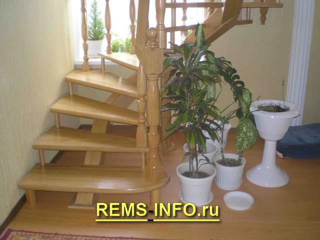Лестница на второй этаж на одном косоуре3.