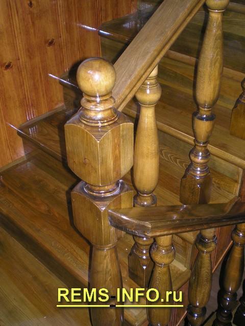 деревянная лестница на второй этаж фото3.