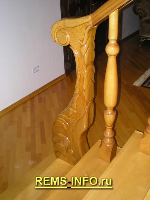 деревянная лестница на второй этаж фото4.
