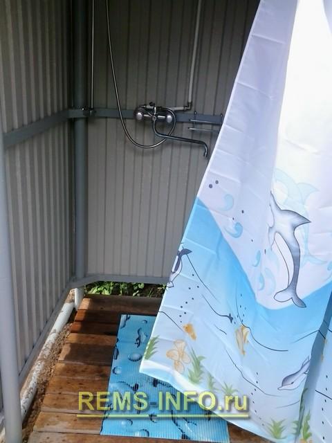 Как сделать летний душ на даче.