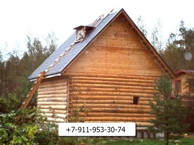 """Устраиваем """"гнездо"""" на крыше для возведения трубы."""