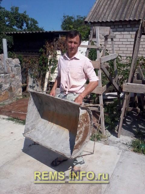 Емкость для приготовления бетона, раствора своими руками.