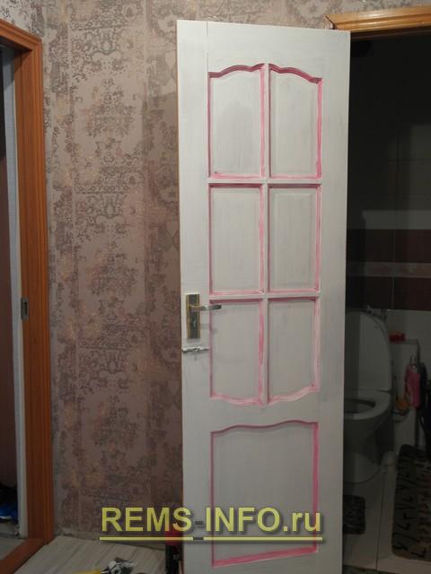 Декор межкомнатных дверей с фото