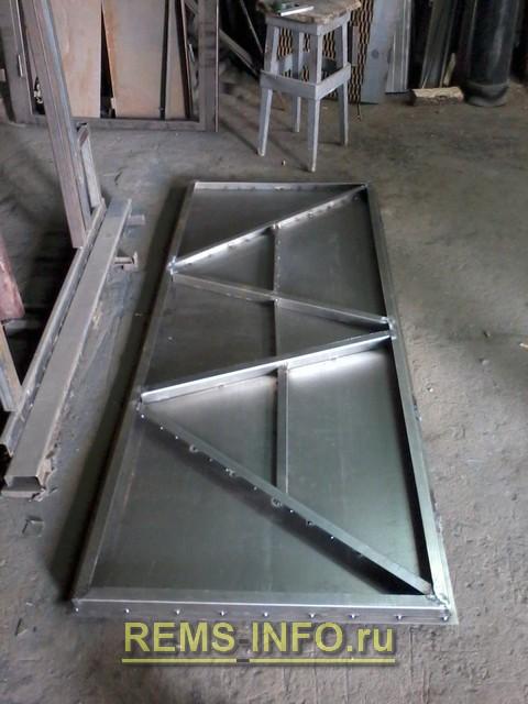 Делаем входную металлическую дверь своими руками.
