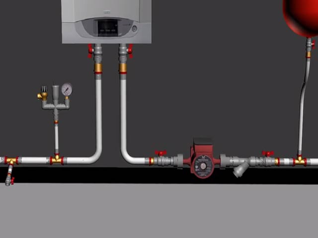 Схемы систем отопления.