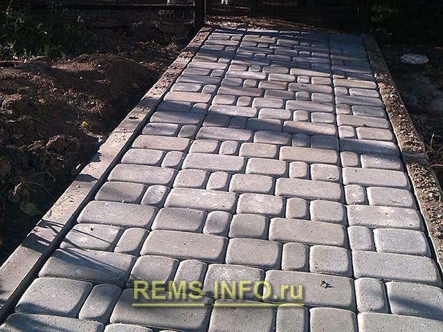 Тротуарная плитка старого образца