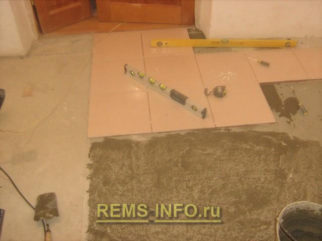 видео уроки разметки и укладки плитки на пол