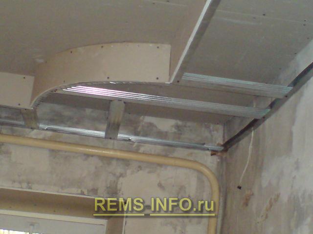 Montaža mavčne plošče na stropu dvonivojske