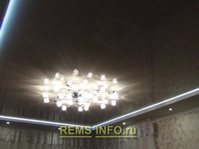 натяжные потолки с подсветкой по периметру фото