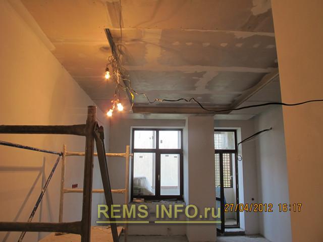 Потолок из гипсокартона двухуровневый своими руками фото