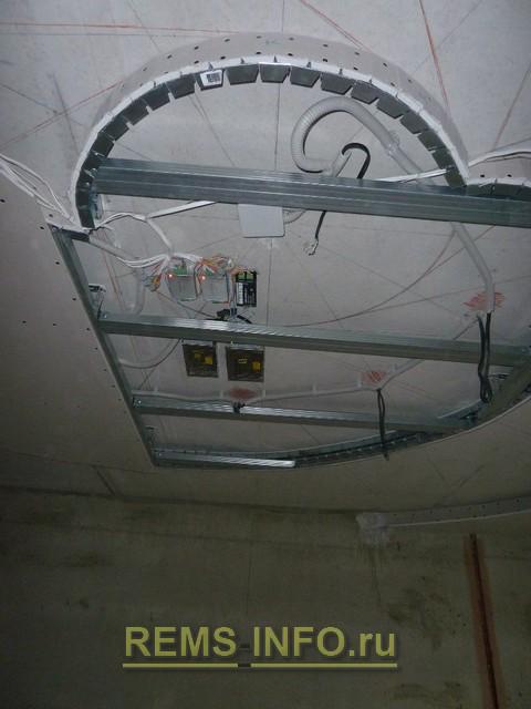 Блоки питания и управления светодиодной лентой для подсветки потолка из гипсокартона.