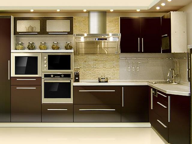 Кухня в стиле Хай-тек 3.