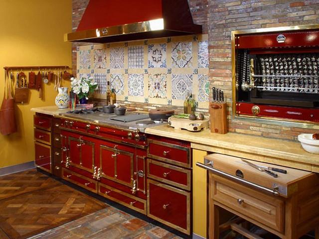Кухня, выполненная в ретро стиле.