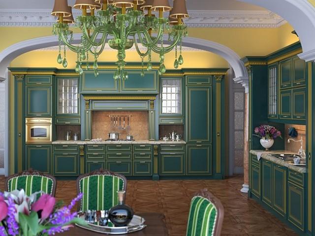 Кухня в викторианском стиле 4.