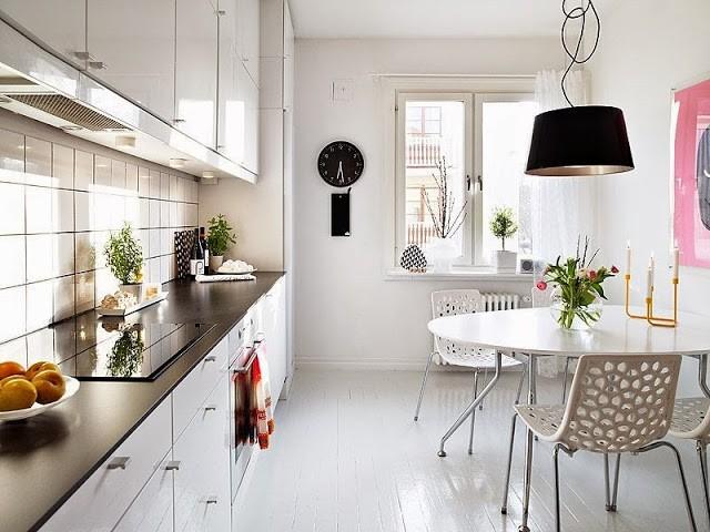 Кухня в скандинавском стиле.