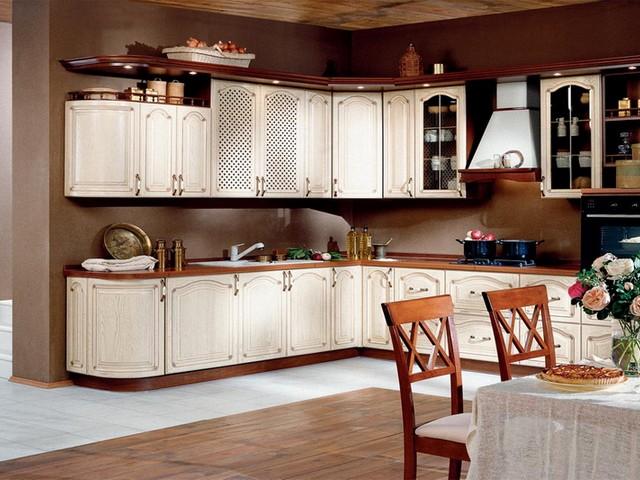 Кухня в в классическом стиле.