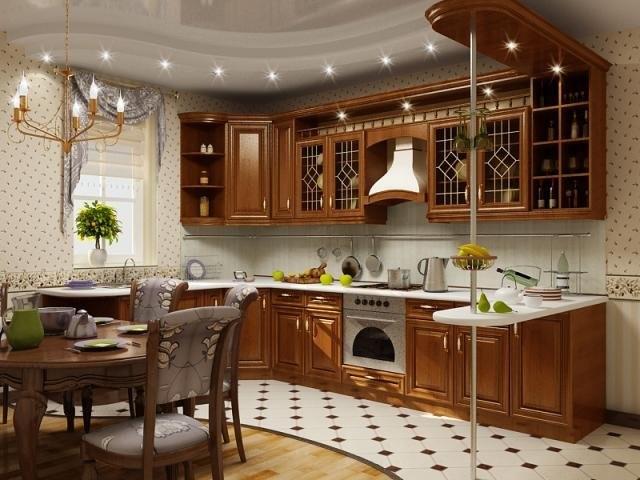 Кухня в в классическом стиле 4.