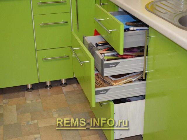 Кухня зеленая с белым фото интерьера 2.