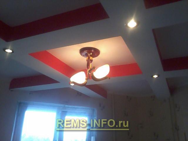 Гипсокартон потолок своими руками фото кухня 29