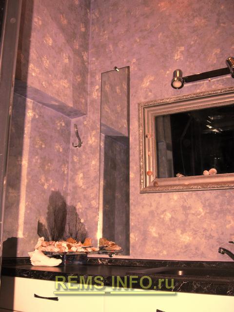 фото готовой отделки стен в ванной.