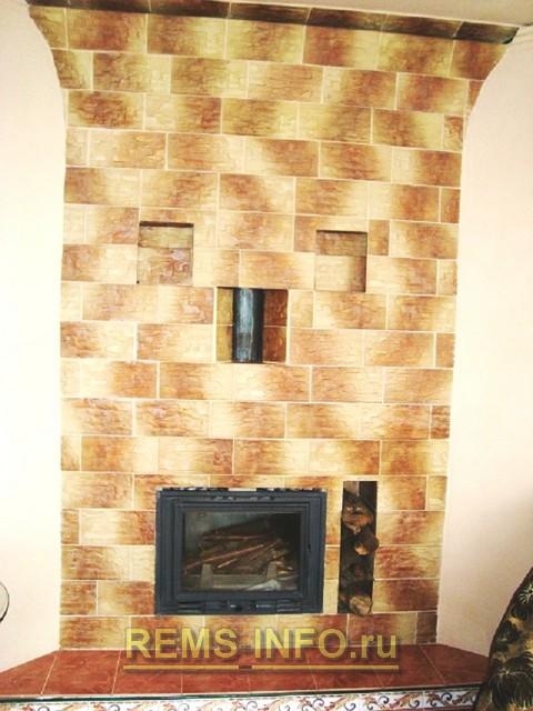 чем обить потолок возле камина