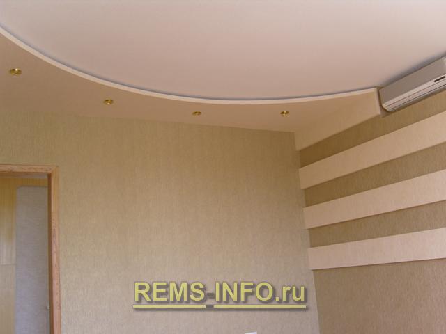 ниша из гипсокартона в стене для сплит системы.