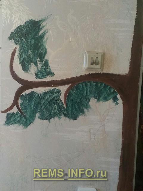 Создаем крону дерева.