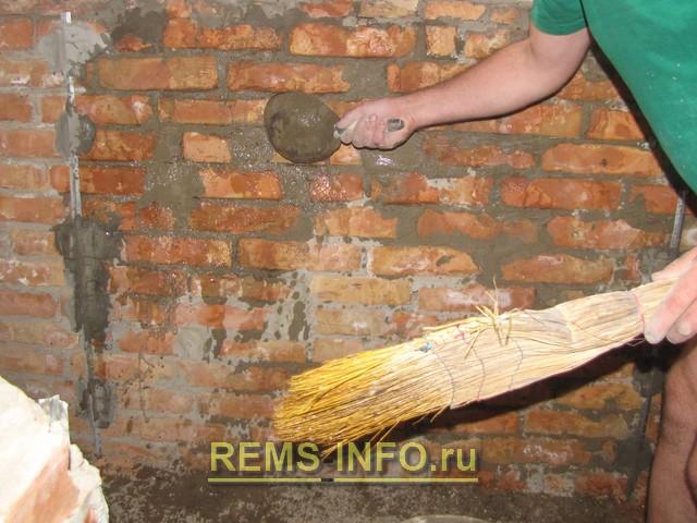 Штукатурка стен цементным раствором своими руками без маяков 37