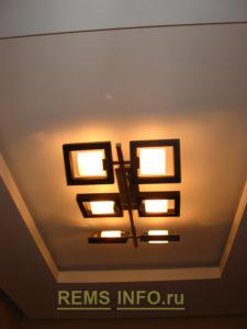 Подвесные потолки из гипсокартона фото3
