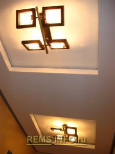 Подвесные потолки из гипсокартона фото4