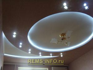 Подвесные потолки из гипсокартона фото11