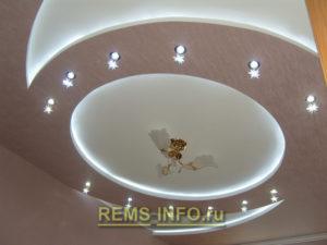 Подвесные потолки из гипсокартона фото20