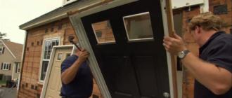 Замена входной двери в частном доме.