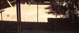 Ворота из металлокаркаса