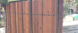 Изготовление ворот из штакетника