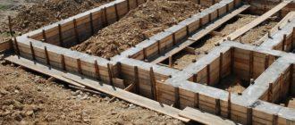 Монтаж ленточного фундамента для каркасного дома