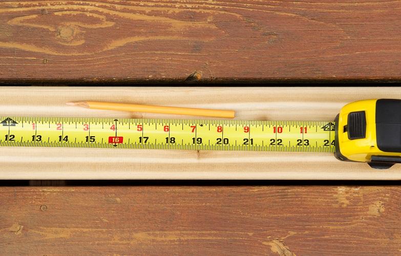 Измерение длины доски