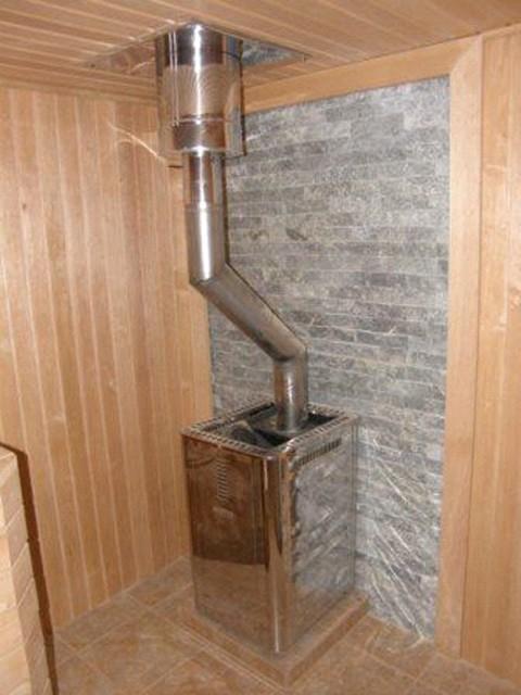Изогнутая труба для дымохода как сделать облицовку камина