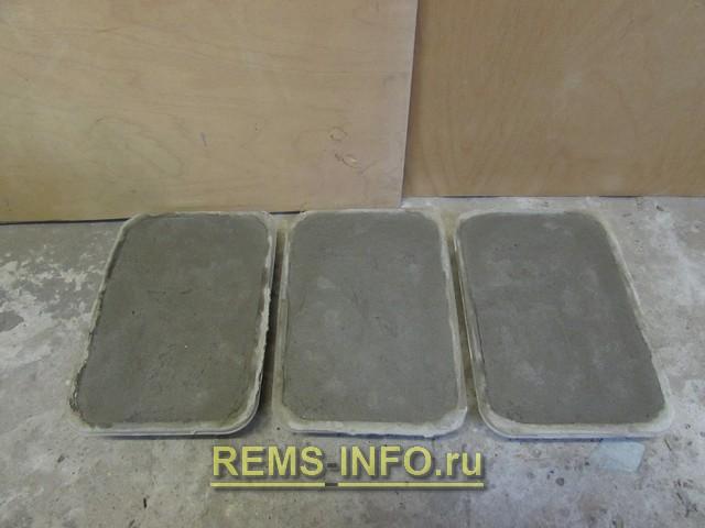 Сушка плитки в формах – второй день.